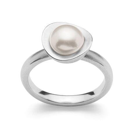 Bastian Inverun zilveren ring met parel
