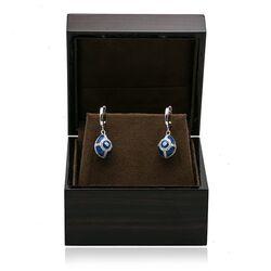 Tatiana Fabergé donker blauwe ei oorhangers