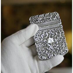 Zilveren visitekaartdoosje