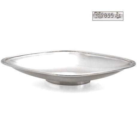 zilveren ruitvormige schaal Grimminger