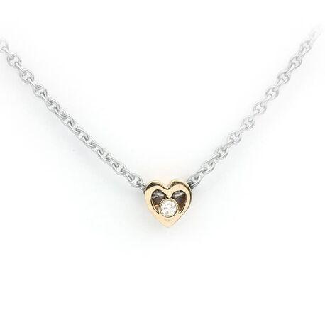 Per Borup zilveren collier Open Your Heart met diamantje