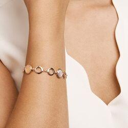Roségouden armband met maanstenen 19 cm