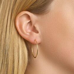 Geel gouden oorringen creolen 32 mm
