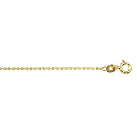 Geelgouden collier anker schakels 38-42-45-50 cm