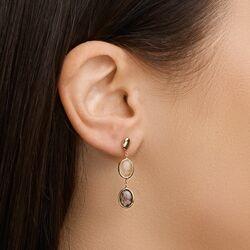 Geelgouden oorhangers met rutiel kwarts