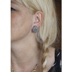 oorclips zilver met markasiet