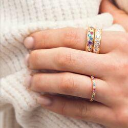 Sif Jakobs Novara Uno ring multicolor zirkonia