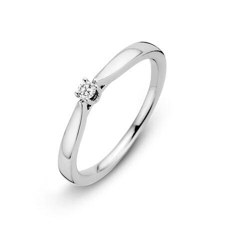 Witgouden ring briljant