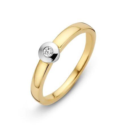 bicolor gouden ring briljant