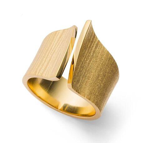 Bastian Inverun verguld zilveren design ring 27780