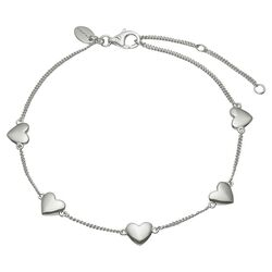 Christina zilveren armband met hartjes