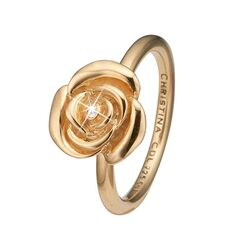 Christina verguld zilveren ring Topaas Roos