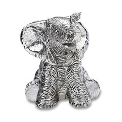 Muziekdoosje olifant verzilverd