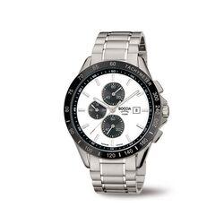 Boccia Titanium herenhorloge zwart-wit 3751-03