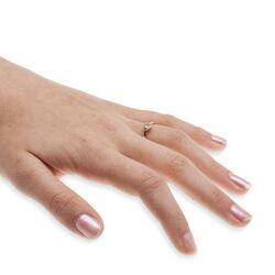 Rosegouden 14 kt. ring rozenquartz