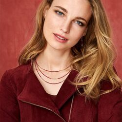 Coeur de Lion collier Waterval Rood