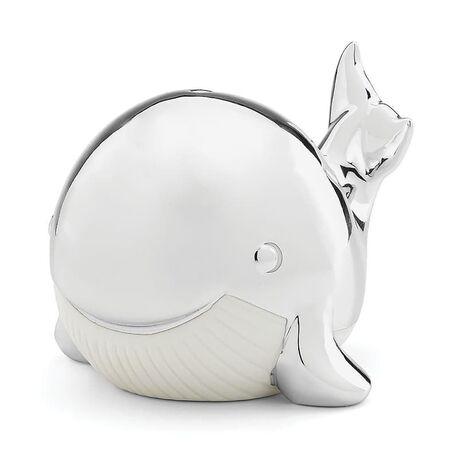 Spaarpot walvis verzilverd