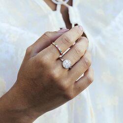 Sif Jakobs verguld zilveren ring multicolor zirkonia's
