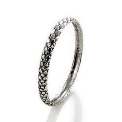 Zilveren rinkelarmband slangen print 06970