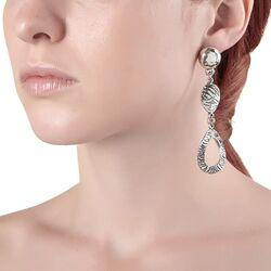 Lange oorbellen met zebra print van Raspini