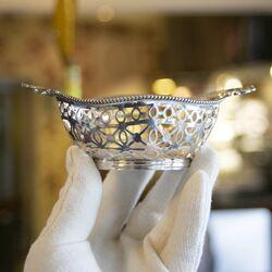 Bonbonmandje  van zilver