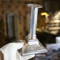 Antieke zilveren schuifkandelaars Jacobus Kamphuis Leiden 1792 1803
