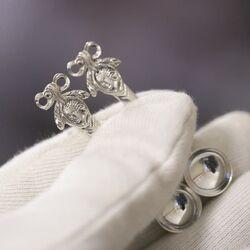 Zoutlepeltjes zilver stel