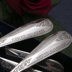 antieke zilveren theelepels
