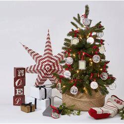 Zilver fotolijstje hart voor kerstboom Carrs