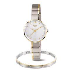 Boccia bicolor cadeauset horloge met armband
