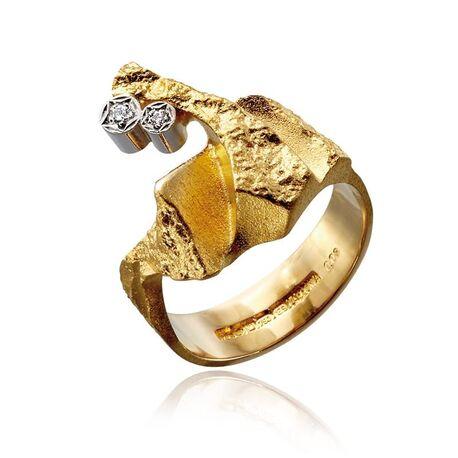 Lapponia gouden Twig ring diamant 111001