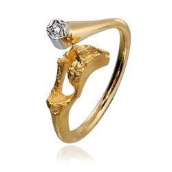 Lapponia gouden Well ring diamant 111017