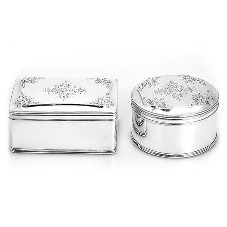 Zilveren koektrommels 19e eeuws