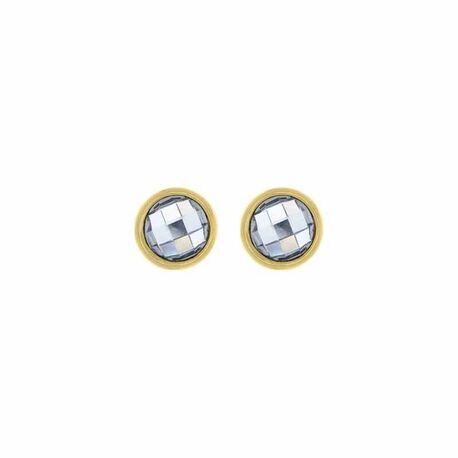 MY iMenso vergulde oorstekers wit zirkonia 27-28011