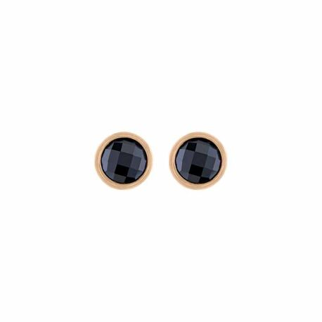 MY iMenso rosé oorstekers zwart zirkonia 27-28022