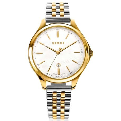 Classy horloge 34 mm wit parelmoer wijzerplaat