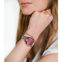 Classy horloge 34 mm met donkerrode wijzerplaat