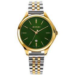 Classy horloge 34mm groene wijzerplaat goudkleurige ziw1035