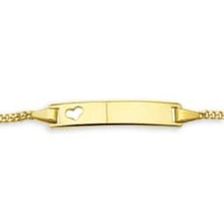 Gouden naamplaat armband 16-18 cm