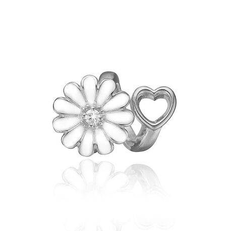 Christina zilveren bedel margriet hart 630-S184K
