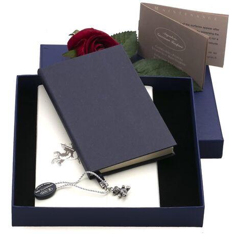 dagboekje, notitieboekje bladwijzer zilver beertje Raspini