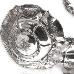 5 delig antiek zilveren theeservies uit Rotterdam