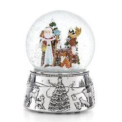 Kerst muziek sneeuwbol verzilverd