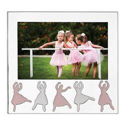 Verzilverde kinderfotolijst ballerina