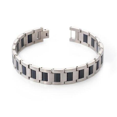Boccia titanium heren armband zwart 0334-01