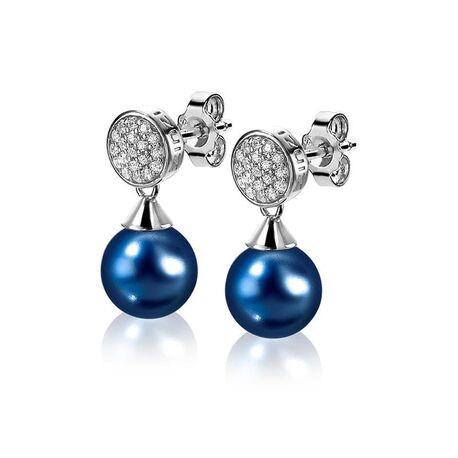 Zinzi zilveren oorstekers blauw ZIO1151B
