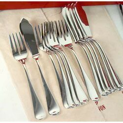zilveren viscouverts model glad