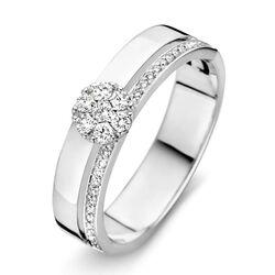 RP216032 witgouden ring met vele briljanten