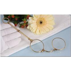 gouden face a main opklapbare bril antiek