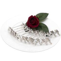 12 Elegante zilveren messenleggers